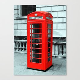 Whitehall Phone Box Canvas Print