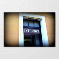 internet Canvas Prints featuring Internet by MartaJ