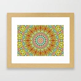 Pastel Jellybean Mandala Framed Art Print