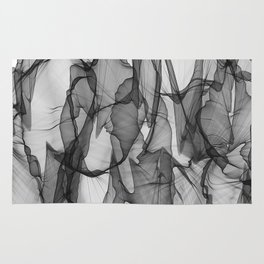 abstract black white background Rug