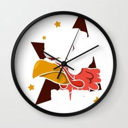 Thanksgiving Turkey Face Jive Wall Clock
