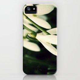 Snowdrops iPhone Case
