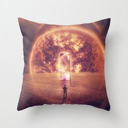 Space teleportation Throw Pillow
