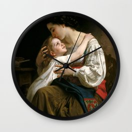 "William-Adolphe Bouguereau ""Getting Up (Le Lever)"" Wall Clock"