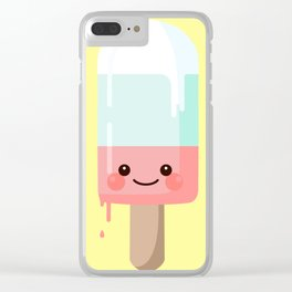 Kawaii melting popsicle Clear iPhone Case