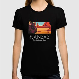 Kansas Proud State Motto The Sunflower State print T-shirt