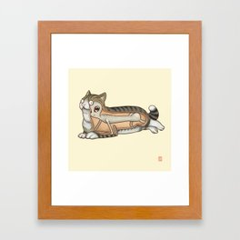 The truth about cats Framed Art Print
