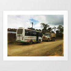 Colombia. Art Print