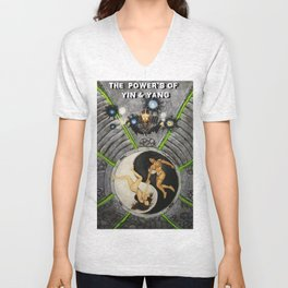 Power's of Yin & Yang Unisex V-Neck