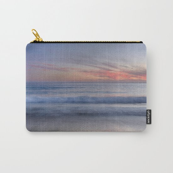 """Magical waves at sunset"" Carry-All Pouch"
