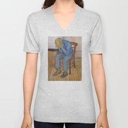 Vincent van Gogh - Sorrowing Old Man (At Eternity's Gate) Unisex V-Neck