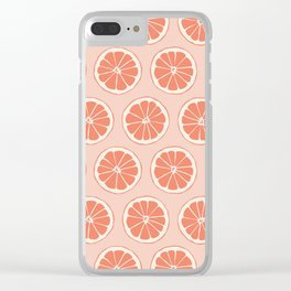 Grapefruit Clear iPhone Case