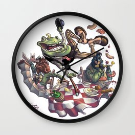 Frog on The Table Wall Clock