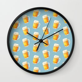 Ice Cold Beer Pattern Wall Clock
