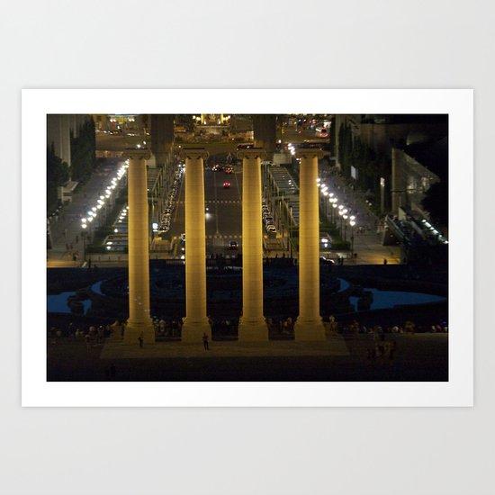 Lighted Columns Art Print
