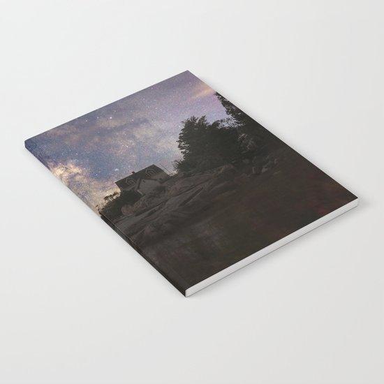 Photoart Lighthouse under the stars Notebook