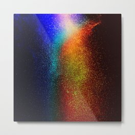 WATER - NOT real Glitter Metal Print