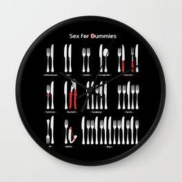 Sex for Dummies Wall Clock