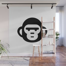 The grumpiest monkey. Wall Mural