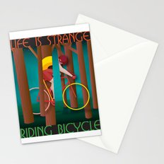 Life is strange, riding bicycle Stationery Cards