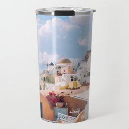 Santorini #society6 #decor #buyart Travel Mug