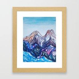 abstract landforms Framed Art Print