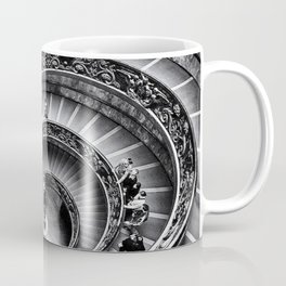 Sublime Spiral Staircase, Vatican, Rome, Italy black and white photograph Coffee Mug