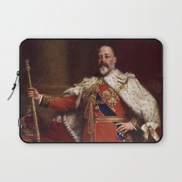 King Edward VII in coronation robes Laptop Sleeve