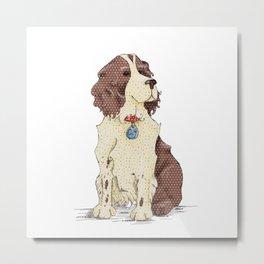 Springer Spaniel - It's a dog's Life Happy Birthday Metal Print