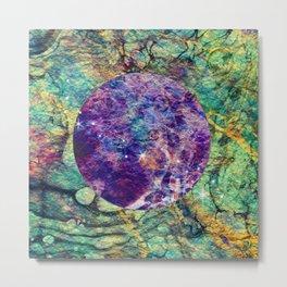 marble moon Metal Print