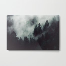 Rain in the forest Metal Print