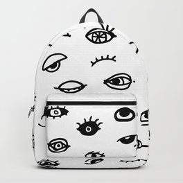 Bad Eyes (White) Backpack