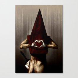 A Lovely Pyramid Head  Canvas Print