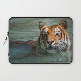 Cincinnati the Tiger in the Pool Laptop Sleeve