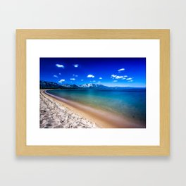 South Lake Tahoe on a Sunny Day Framed Art Print