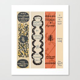 First Edition Book Spines – Virginia Woolf 1925-1929 Canvas Print