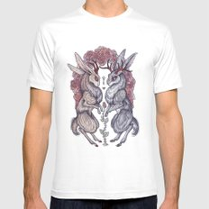 Rare Hearts White LARGE Mens Fitted Tee