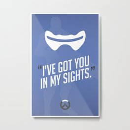 Ultimate Quote - Soldier 76 Metal Print