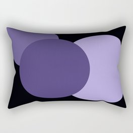 Mod Circles Ultra Violet Purple Rectangular Pillow