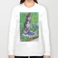 breathe Long Sleeve T-shirts featuring Breathe by Katy Dai