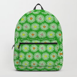 Green 70's flowers Backpack