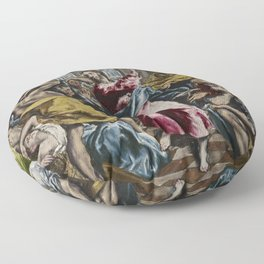 El Greco The Purification of the Temple Floor Pillow