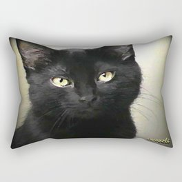 Swoozle's Black Cat in Repose Rectangular Pillow