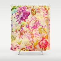 dancing Shower Curtains featuring dancing flowers by clemm