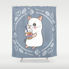 Iced Latte Shower Curtain