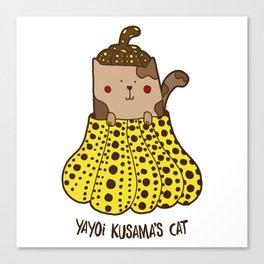 Yayoi Kusama's cat Canvas Print
