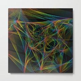 Rainbow Weaver Metal Print