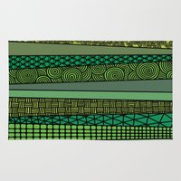 bamboo Area & Throw Rugs featuring Bamboo by glorya