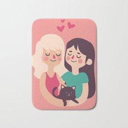 Girls Love Bath Mat