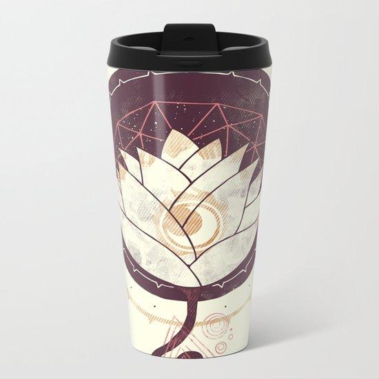 Lotus Metal Travel Mug